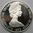CANADA SILVER COIN ELIZABETH THE SECOND BRITISH VIRGIN ISLAND 1973 $1
